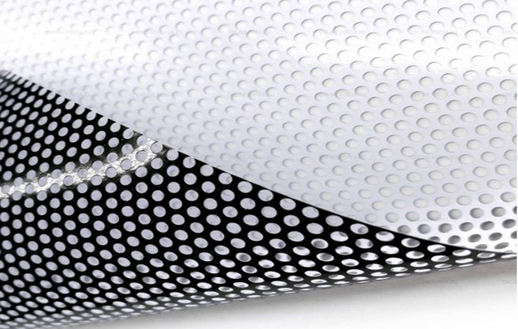 Пленка с перфорацией для оклейки прозрачных поверхностей