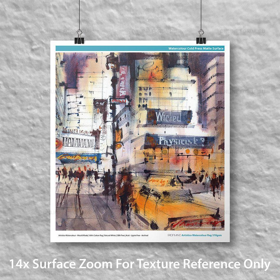 Фотобумага IFA-108 Fabriano Artistico Watercolour Rag 310gsm, А2-50