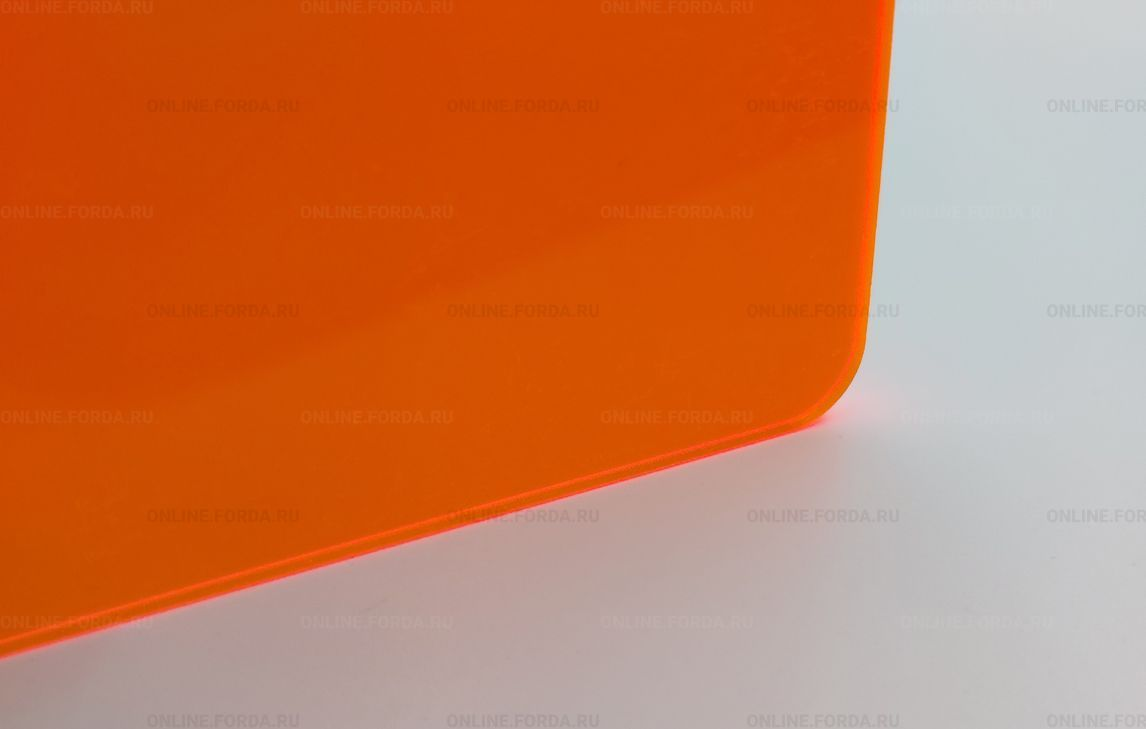 Оранжевое акриловое стекло Plexiglas ХТ