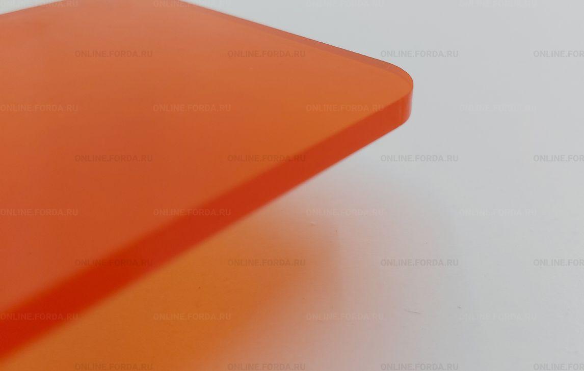 Оранжевый прозрачный матовый пластик Plexiglas ХТ
