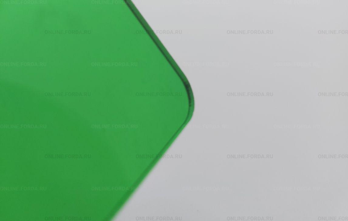 Прозрачное акриловое стекло Plexiglas ХТ зелёного цвета