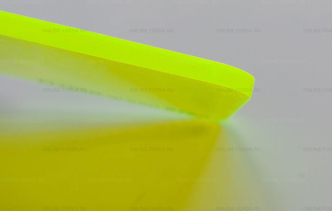 Флуоресцентное акриловое стекло жёлтого цвета Plexiglas ХТ