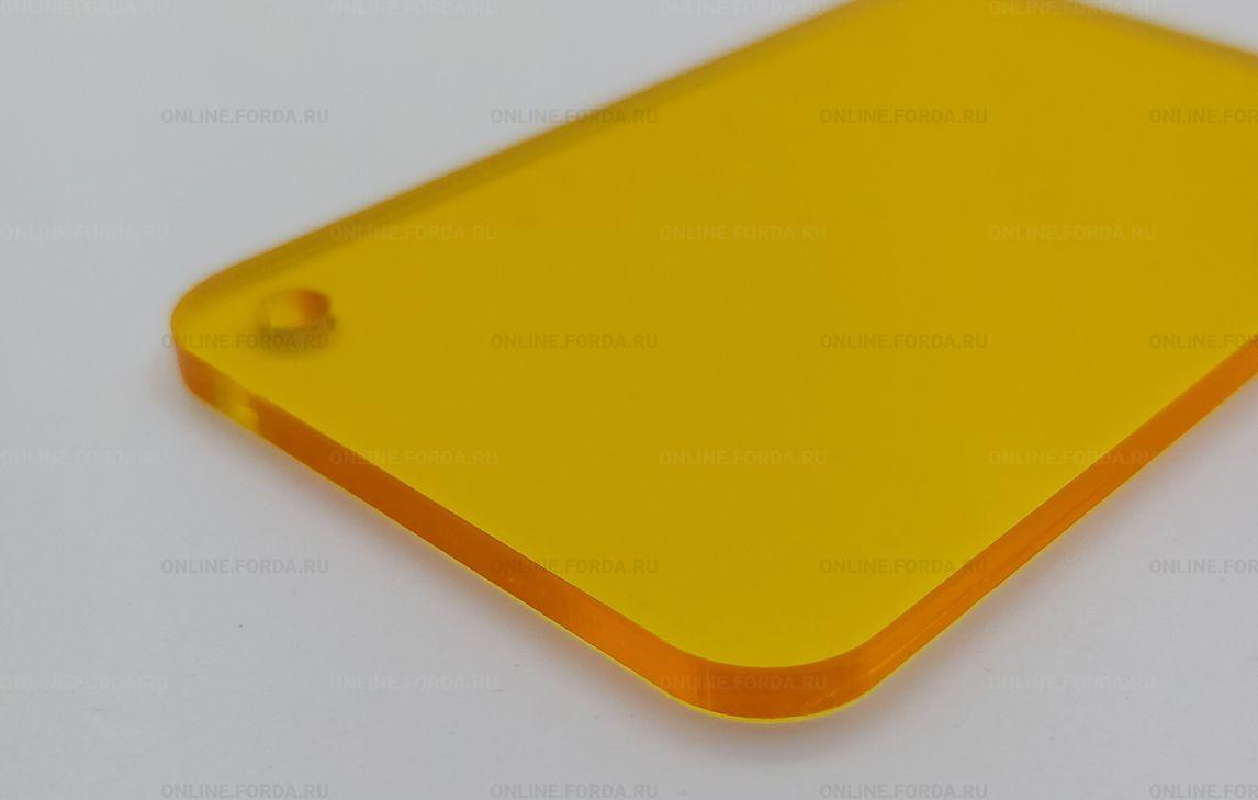 Прозрачное жёлтое цветное акриловое стекло 3 мм Plexiglas ХТ