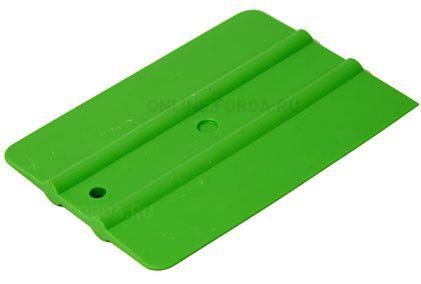 """Шпатель зелёный мягкий (30%) прямоугольный , 4"""" (арт. 21910510)"""
