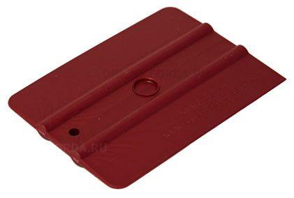 """Шпатель бордовый полужёсткий (60%) прямоугольный , 4"""" (арт. 21910540)"""