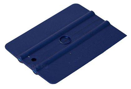 """Шпатель синий полужёсткий (35%) прямоугольный , 4"""" (арт. 21910555)"""