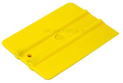 """Шпатель жёлтый  полужёсткий (70%) прямоугольный , 4"""" (арт. 21910565)"""