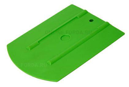 """Шпатель зелёный мягкий (30%) закруглённый , 4""""+ (арт. 21910530)"""