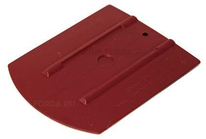 """Шпатель бордовый полужёсткий (60%) закруглённый , 4""""+ (арт. 21910550)"""