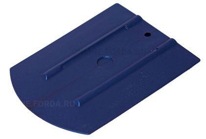 """Шпатель синий полужёсткий (35%) закруглённый , 4""""+ (арт. 21910560)"""