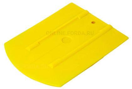 """Шпатель жёлтый  полужёсткий (70%) закруглённый , 4""""+ (арт. 21910570)"""