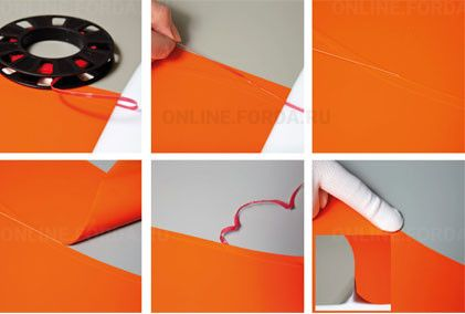 Лента режущая для автовинила красная (3 мм*60 м) (арт. 21910301)