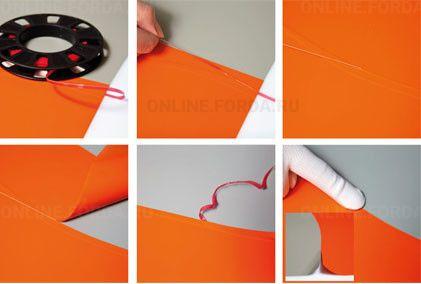 Лента режущая для автовинила белая (4 мм*45 м) (арт. 21910302)