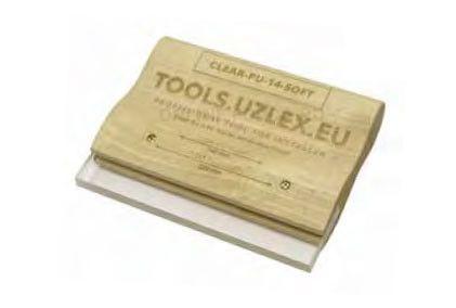Деревянный ракель для жёстких плёнок, CLEAR-PU-14 HARD, 140 мм (арт. 21910125)