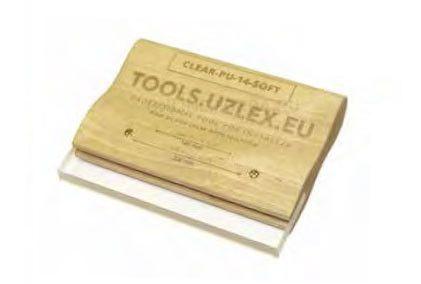 Деревянный ракель для жёстких плёнок, CLEAR-PU-14 SOFT, 140 мм (арт. 21910127)