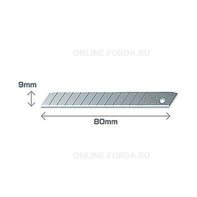 Лезвие OLFA OL-AB-10B сегментированное, 9х80х0,38 мм,10шт