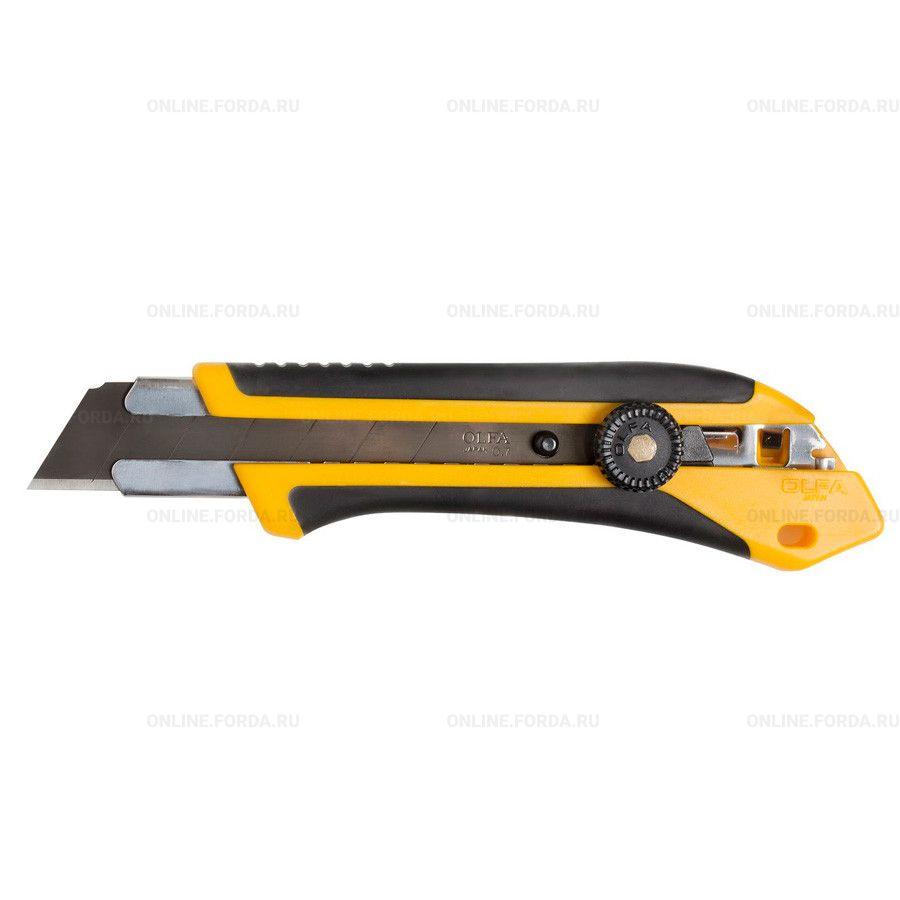 Нож OLFA OL-XH-1 c выдвижным лезвием, двухкомпонентный корпус, трещоточный фиксатор, 25мм