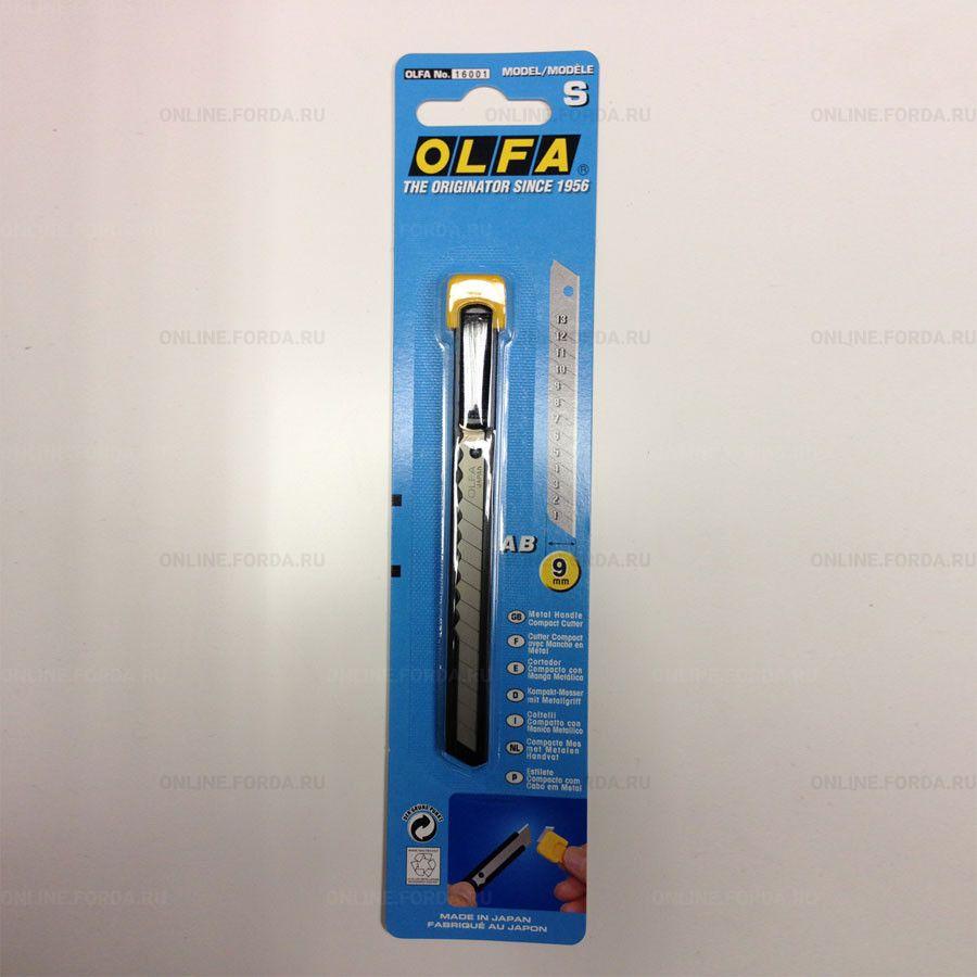 OL-S Нож с выдвижным лезвием, металлический корпус, 9мм