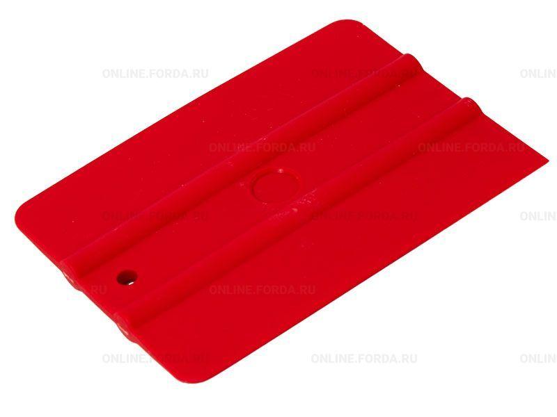 """Шпатель красный полужёсткий (50%) прямоугольный , 4"""" (арт. 21910593)"""