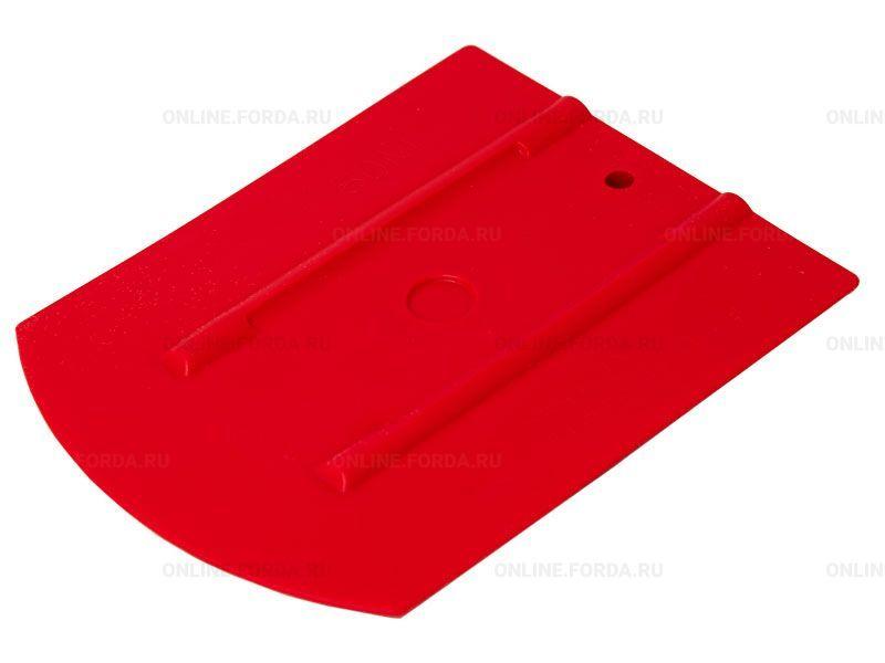 """Шпатель красный полужёсткий (50%) закруглённый , 4"""" (арт. 21910596)"""