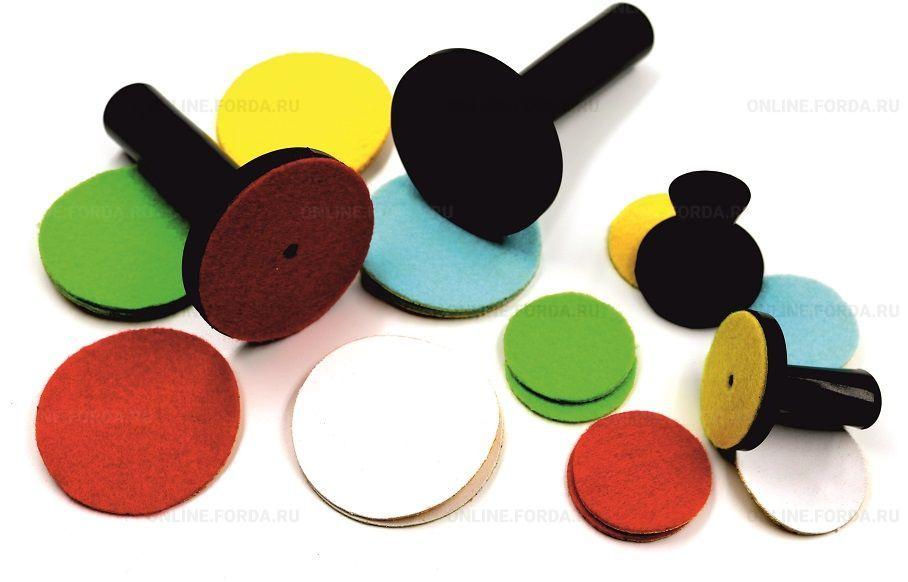 Цветные насадки для магнитов 44 мм, (5 шт.) (арт.65050108)
