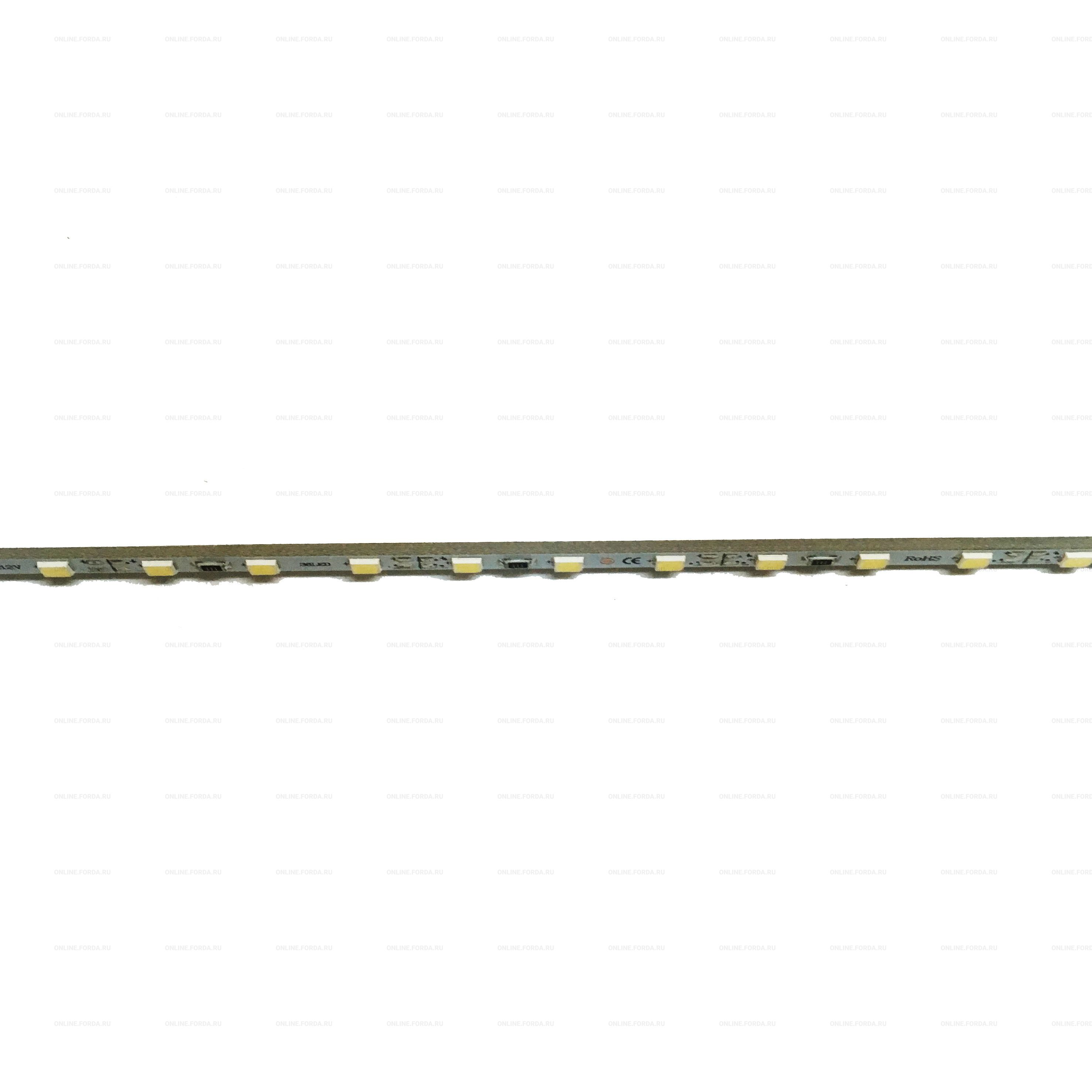 Линейка жесткая узкая 4 мм, 36 led 2835 smd (20-22Lm) 12V, 29см