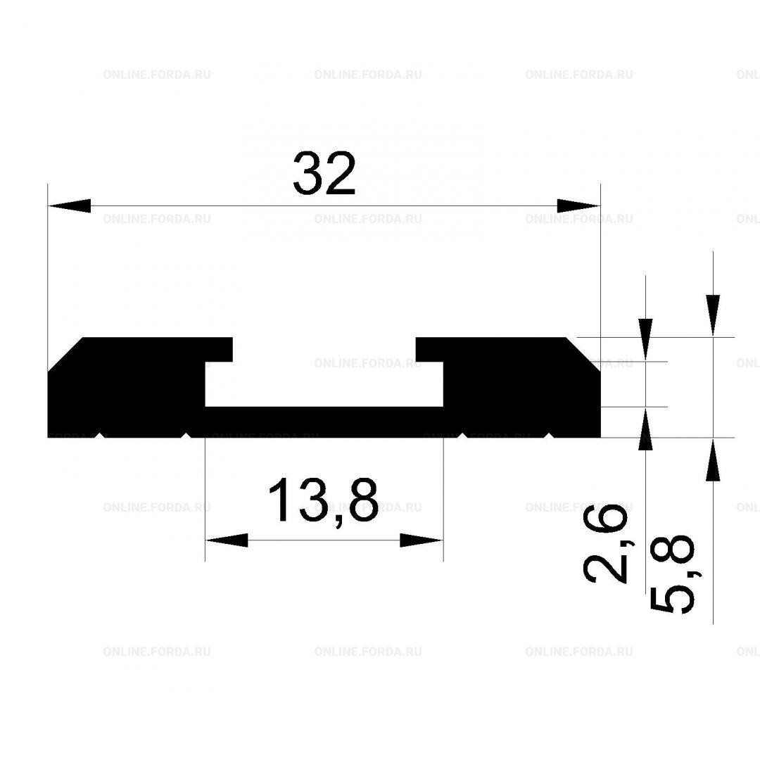 Профиль-шина для монтажно-фрезерных столов