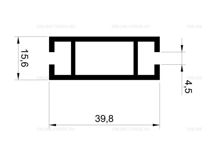 Профиль-инпост 40х16 мм алюм.
