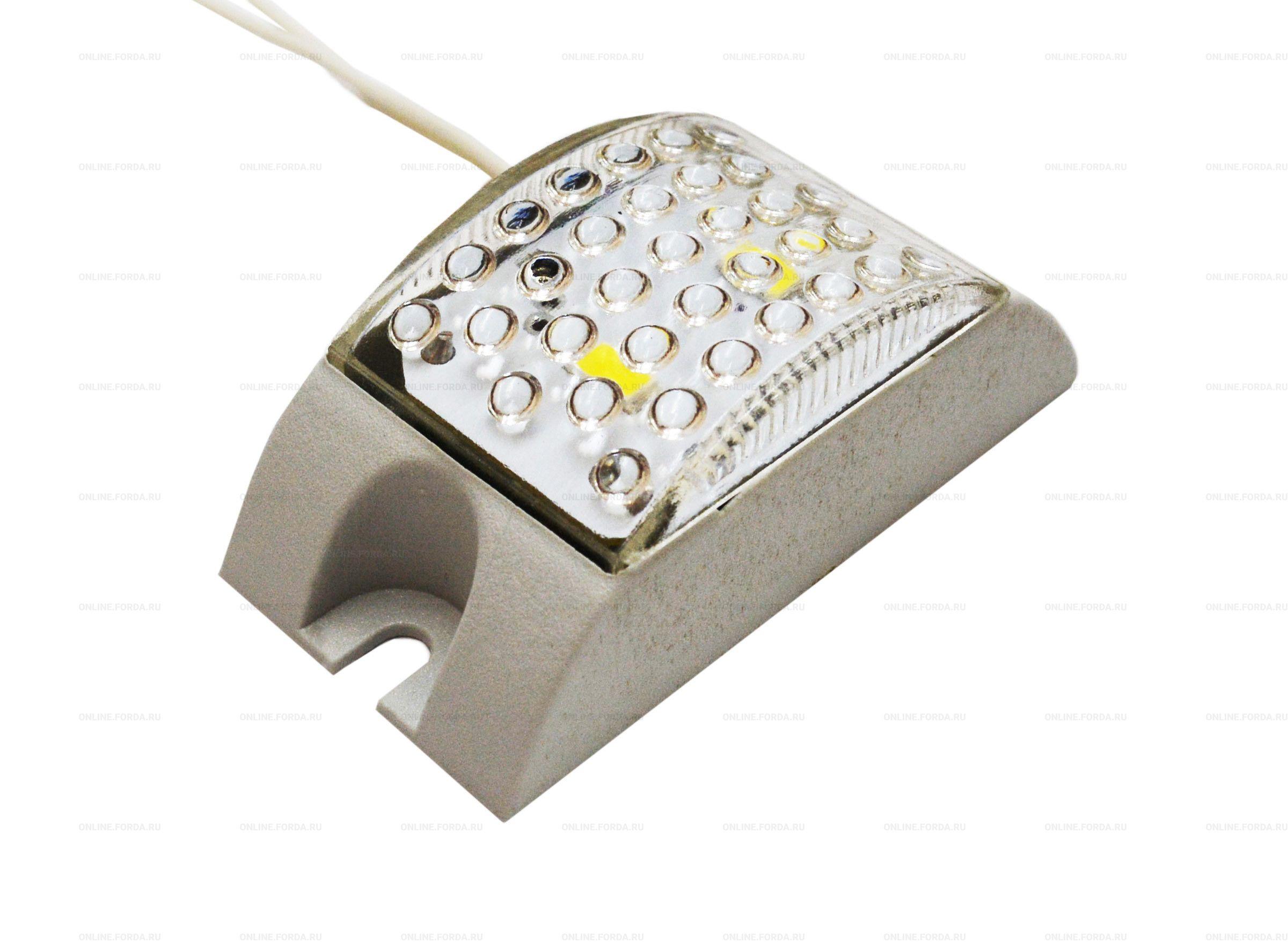 Строб светодиодный накладной 220в, IP65, 2 led SMD