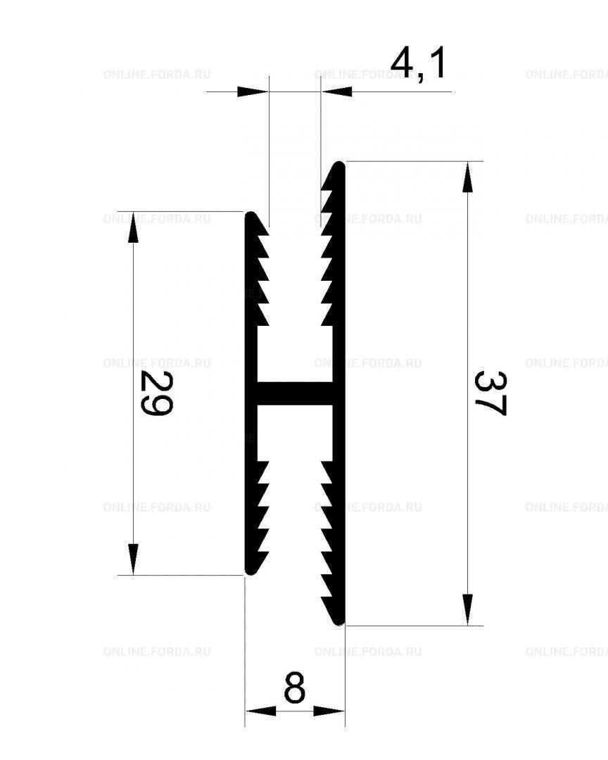 Профиль H-образный под 4 мм