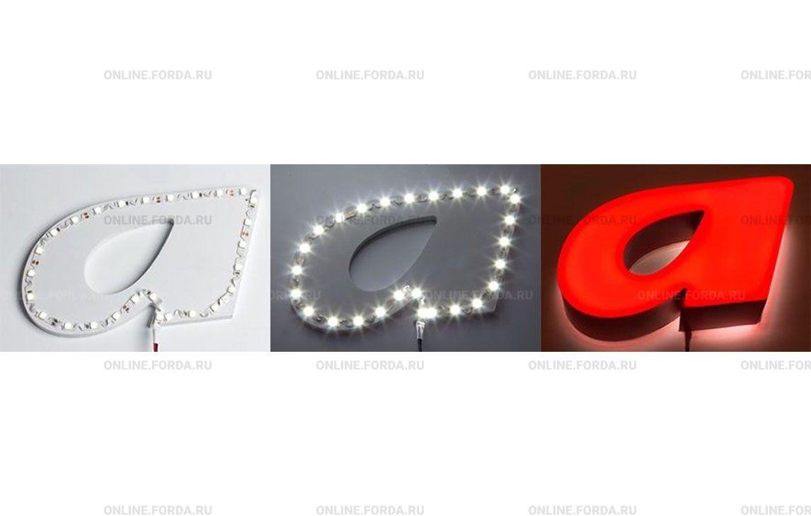 Световые буквы со светодиодной лентой LUX 2835