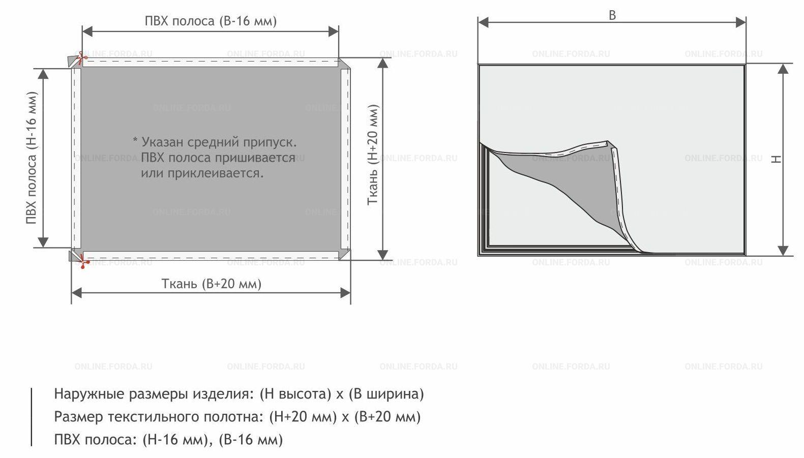TexBox 70 - алюминиевые профили для изготовления короба с натяжением текстиля