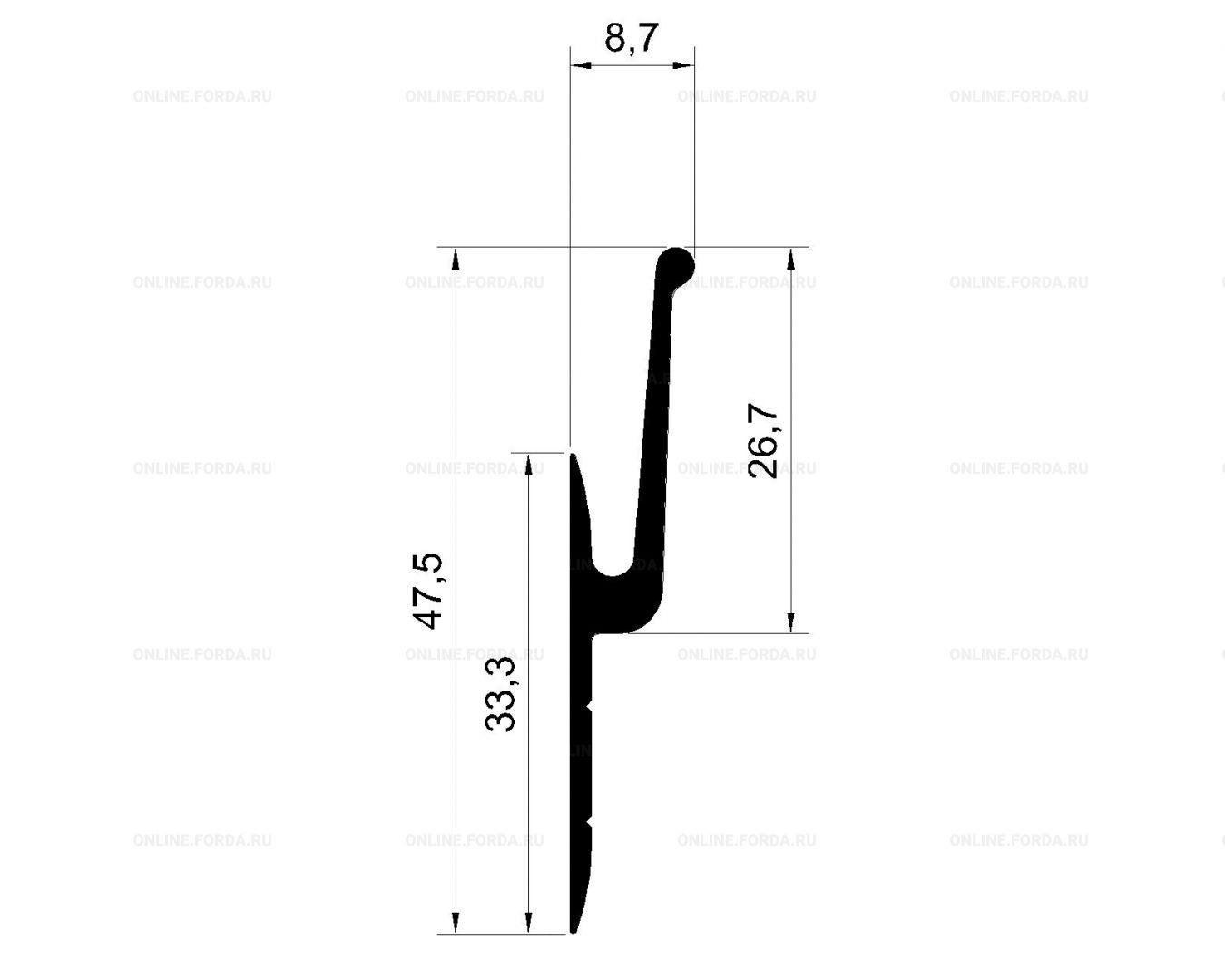 Система профилей для изготовления короба глубиной 70 мм